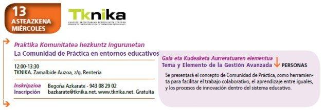 Tknika. Entornos educativos